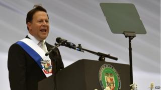 Juan Carlos Varela at inauguration ceremony