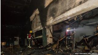 Smoke damage at Wednesbury Leisure Centre