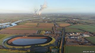 Hall water treatment works from the air