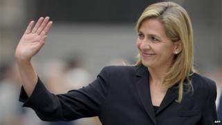 Spain's Princess Cristina arriving to attend a funeral mass for former International Olympic Committee president Juan Antonio Samaranch at Barcelona's cathedral on 22 April 2010