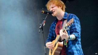 Ed Sheeran at Glastonbury