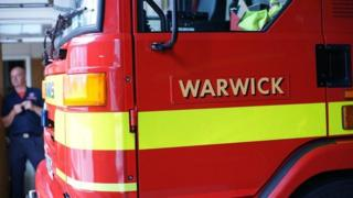 Fire engine at Warwick Fire station