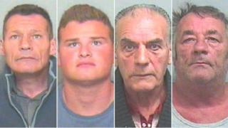 William Brown, James Brown Junior, Petter Biddle and Van Purdy (l-r)