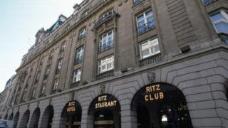 The Ritz hotel in Piccadilly