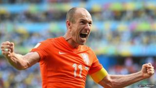Dutch National Team striker Arjen Robben.