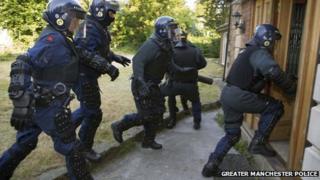 Police raid on a house