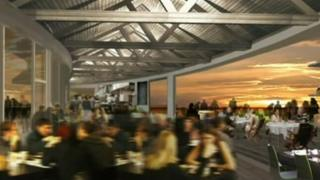 Artist's impression of restaurant at pier