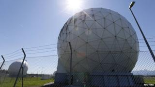 A monitoring base belonging to the German federal intelligence agency, formerly used by the NSA