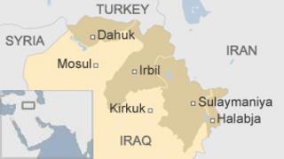 Map of Iraqi Kurdistan