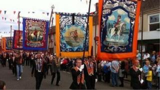 Orange marchers