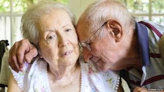 Elderly couple with dementia