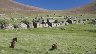 Abandoned houses on St Kilda