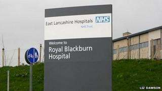 Royal Blackburn Hospital sign