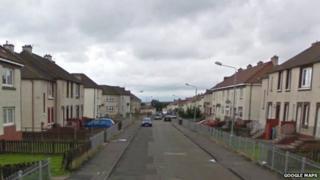 Gateside Road in Craigneuk, Wishaw