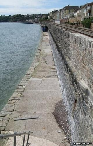 Seawall which will be raised