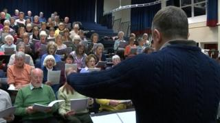 Eventide concert rehearsals