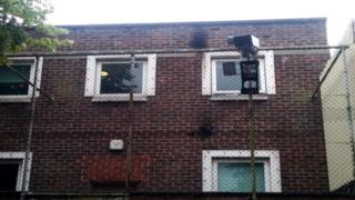 Police station hit by petrol bombs