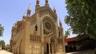 St. Matthew's Catholic Cathedral near the Sudanese capital Khartoum