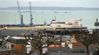 Condor Ferry in St Peter Port Harbour