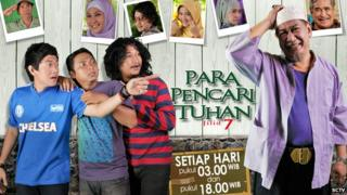 Promotional image for the Indonesian TV soap God Seekers