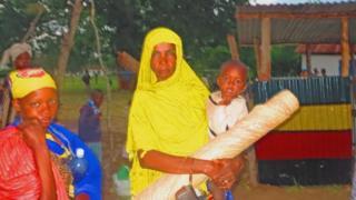 Residents of Panda Nguo village seeking shelter at Hindi Prison
