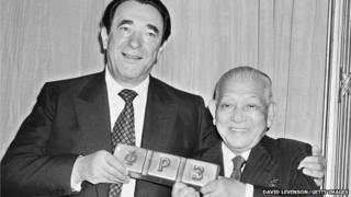 Robert Maxwell and Ryoichi Sasakawa