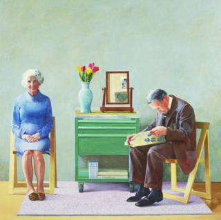 David Hockney, My Parents, 1977