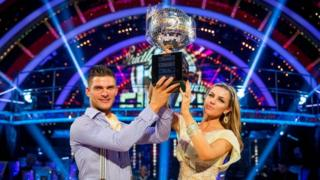 Strictly winners Aljaz Skorjanec and Abbey Clancy