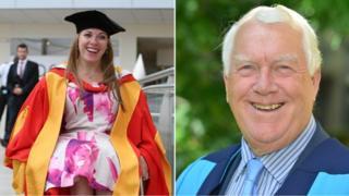 Hannah Cockroft and Sir Rodney Walker