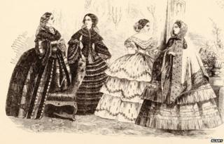 Victorian ladies illustration - late 1850s