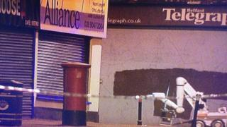 Army explosives experts were called to deal with a suspect package at the Alliance Party offices in east Belfast