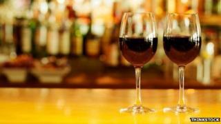Wine glasses on bar. Pic: Thinkstock