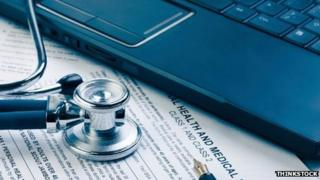 Medical records and computer. Pic: Thinkstock
