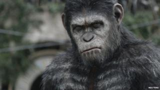 Actor Andy Serkis as ape Caesar