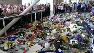 Tributes at St James' Park