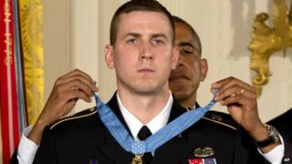 Ryan Pitts is awarded the Medal of Honor by President Barack Obama (21 July 2014)