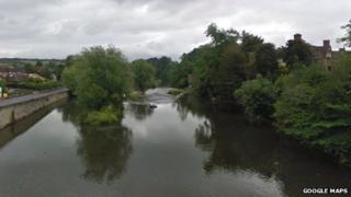 The body of a man believed to be in his 40s was recovered from the River Teme in Ludlow