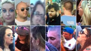 Images of 12 people police want to speak to
