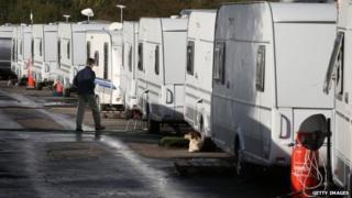 caravans in Oak Lane