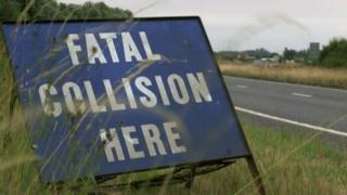 Fatal collision here sign