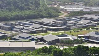 A general view of asylum seekers and facilities at Christmas Island Detention Centre, on 26 July 2013 on Christmas Island.
