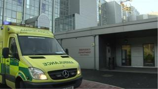 The emergency department at Belfast's Royal Victoria Hospital