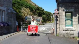 Road closure at Great Orme