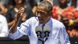 President Barack Obama at the Los Angeles Trade-Technical College