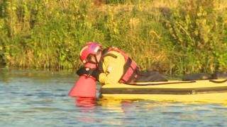 Officers searching River Great Ouse