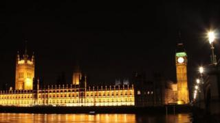 Westminster at night