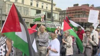 gaza protest in edinburgh