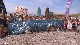 Campaigners at Godrevy