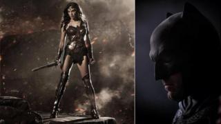 Gal Gadot as Wonder Woman and Ben Affleck as Batman