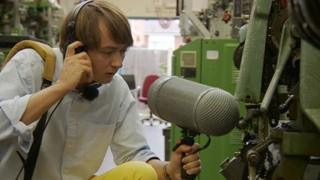 Dr Andrew Hill capturing the sound of machines
